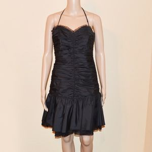 Betsey Johnson Evening Ruched Silk Party Dress
